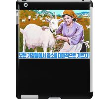 North Korean Propaganda - Goat iPad Case/Skin