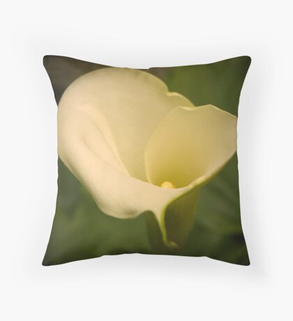 A lily in colour Throw Pillow