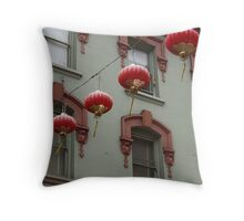Chinatown Lanterns Throw Pillow