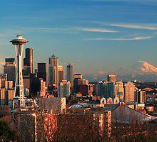 Seattle at Dusk by Inge Johnsson