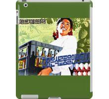 North Korean Propaganda - Beer and Eggs iPad Case/Skin