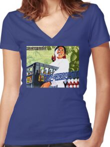 North Korean Propaganda - Beer and Eggs Women's Fitted V-Neck T-Shirt