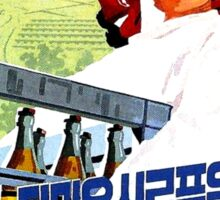North Korean Propaganda - Beer and Eggs Sticker
