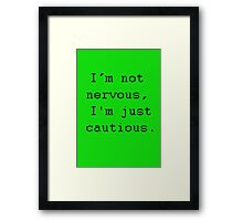 Ashes to Ashes Chris Quote Framed Print