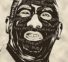 ainsley harriott meat rubber text by mab81tsam
