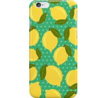 Vintage lemons iPhone Case/Skin