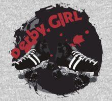 Roller Derby Girl logo Kids Clothes