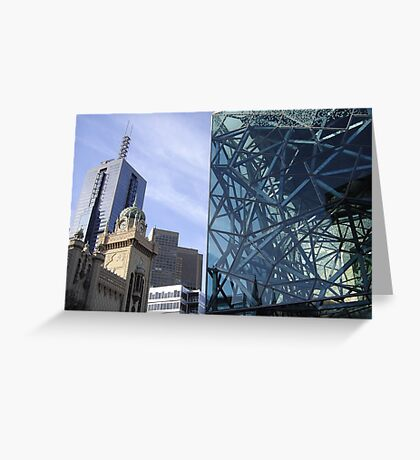 Flinders Streetscape Greeting Card
