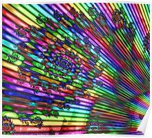 Christmas Rainbow Poster