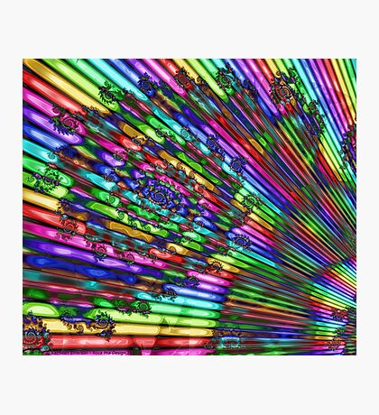 Christmas Rainbow Photographic Print