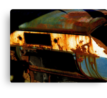 Rusty Detail Of An Abandoned Car Canvas Print