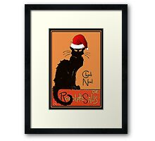 Le Chat Noel Framed Print