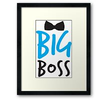 BIG BOSS with black bow tie Framed Print