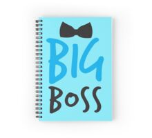 BIG BOSS with black bow tie Spiral Notebook