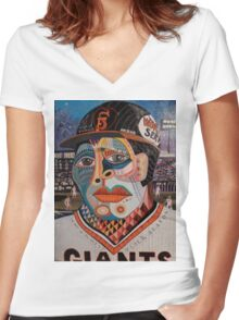 A San Francisco First Women's Fitted V-Neck T-Shirt