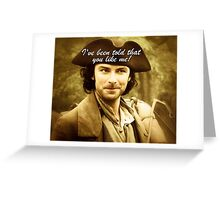 Sexy Poldark in Cornwall Greeting Card