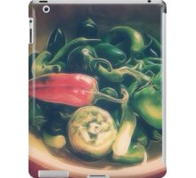 Still life with hot peppers iPad Case/Skin