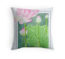 """Lotus"" Throw Pillow"