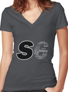 Castle S6 Women's Fitted V-Neck T-Shirt