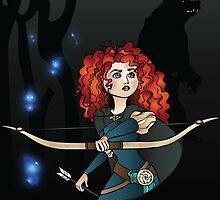 Disney Princesses - Merida by Lauren Eldridge-Murray