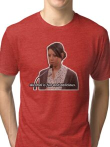 April Ludgate - alcohol is fun Tri-blend T-Shirt