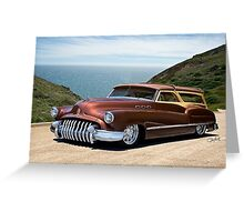 1950 Buick Woody Custom Wagon Greeting Card