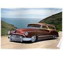 1950 Buick Woody Custom Wagon Poster