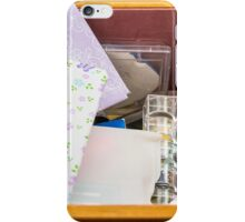 Sewing Box with Lilac Fabric iPhone Case/Skin