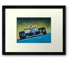 Ayrton Senna. Formula 1. Framed Print