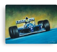 Ayrton Senna. Formula 1. Canvas Print