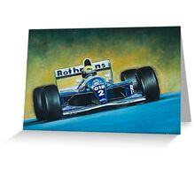 Ayrton Senna. Formula 1. Greeting Card
