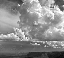 Cloud over valley by PeterDamo