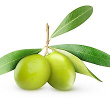Two green olives by 6hands