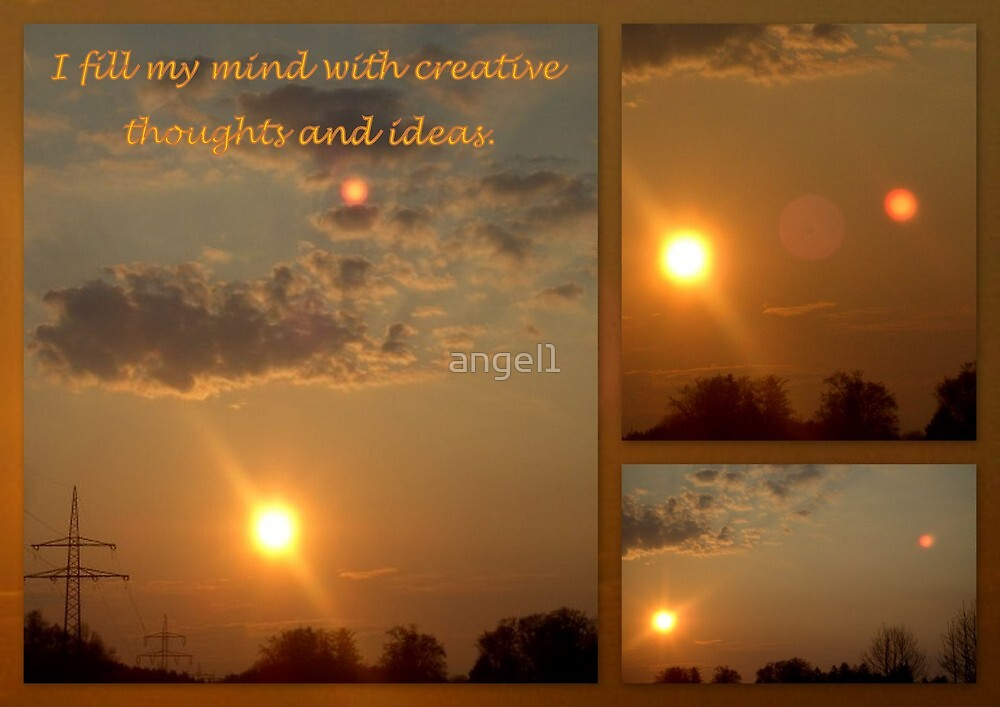 """I fill my mind with creative thoughts and ideas featured in """"Post Cards Style"""" by ©The Creative  Minds"""