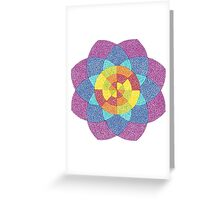Rainbow Flower Greeting Card