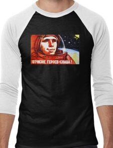 USSR Propaganda - Space Men's Baseball ¾ T-Shirt