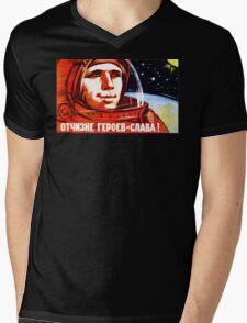 USSR Propaganda - Space Mens V-Neck T-Shirt