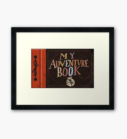 My Adventure Book from Up Framed Print