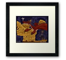 The Hobbit - Smaug and the Burglar Framed Print