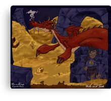 The Hobbit - Smaug and the Burglar Canvas Print