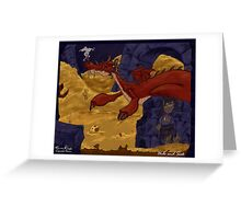 The Hobbit - Smaug and the Burglar Greeting Card