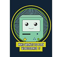 Who wants to play videogames ? Photographic Print