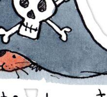 Pirate Hamster Sticker