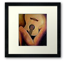 Nude with a Gold Guitar Framed Print