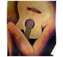 Nude with a Gold Guitar Poster