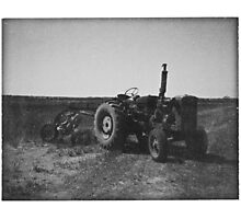 Vintage Tractor Photographic Print