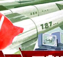 North Korean Propaganda - Missiles  Sticker