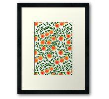 Peach Tree Framed Print