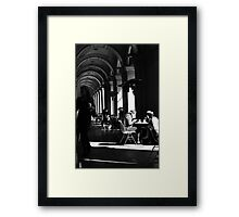 Clearing tables ... Framed Print