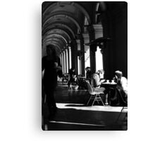 Clearing tables ... Canvas Print